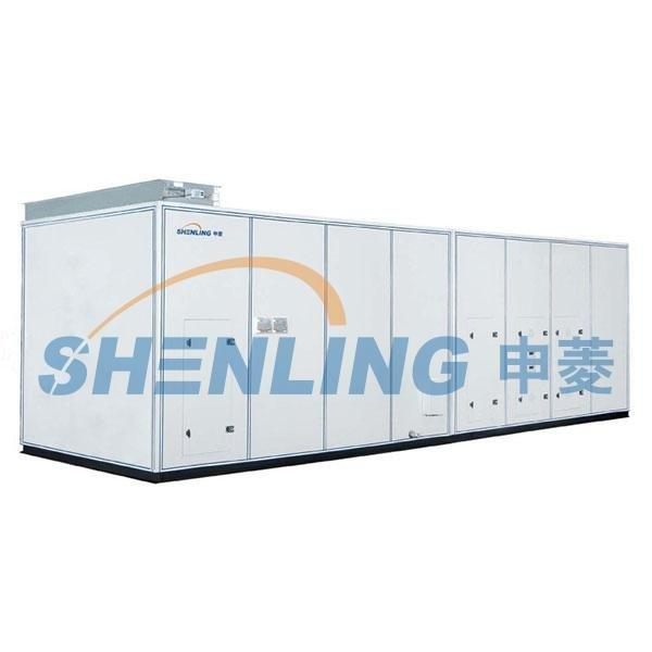 Modular air conditioning unit with temperature and humidity independent control