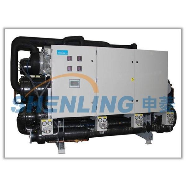 High temperature multi-stage heating water chiller and heater